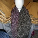 Two Tone, Long,  Double Wrap Arm Knit Cowl