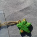 Green and Gold Flower Charm