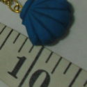 Polymer Clay blue shell